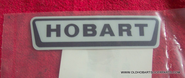 "HOBART SMALL LOGO DECAL 4-1/8"" X 1-1/8"""
