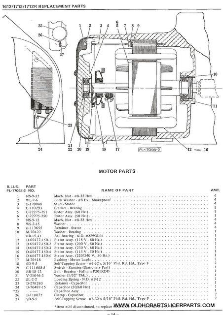 33 Hobart Mixer Parts Diagram